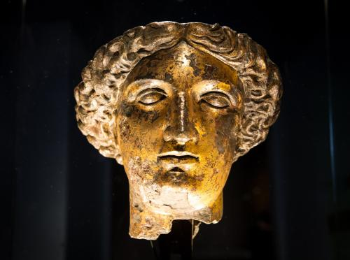 Image: Bronze head of the goddess Sulis Minerva