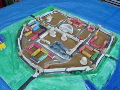 Image: Roman Baths model made by Moorlands Schools Federation