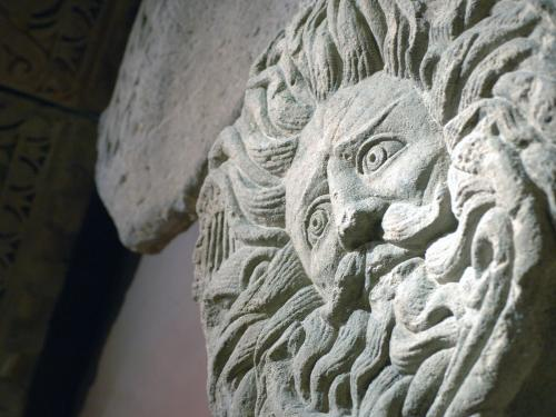 the gorgons head 'andromeda, by perseus saved and wed, hankered each day to see the gorgon's  head: till o'er a fount he held it, bade her lean, and mirrored in the wave was.