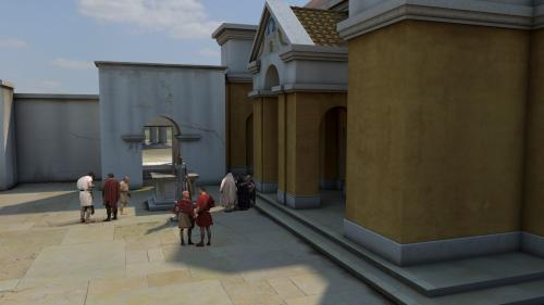 Image: Computer reconstruction of the Temple Courtyard