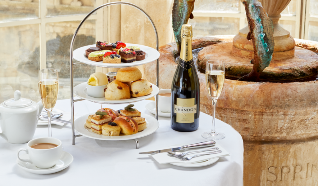 Image: Champagne afternoon tea