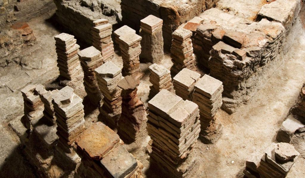 Image: Hypocausts at the Roman Baths