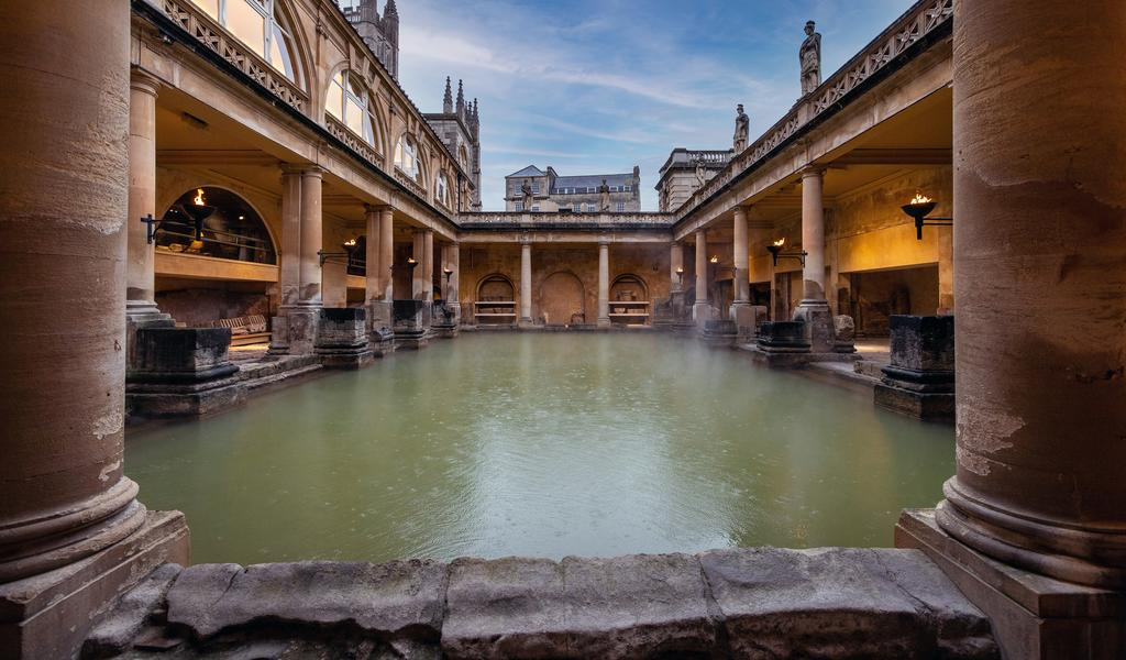 Image: The Great Bath at sunset