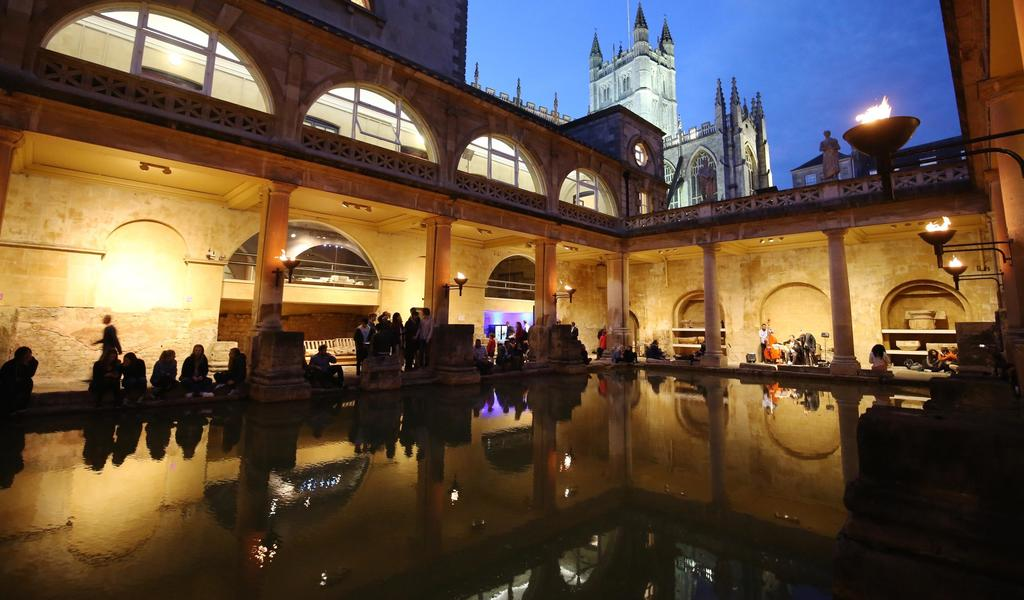 Image: Museums at Night beside the Great Bath