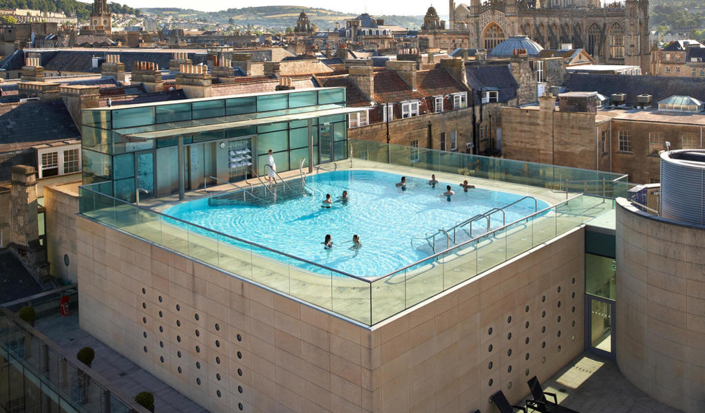 Image: Rooftop pool at Thermae Bath Spa. Image - Philip Edwards