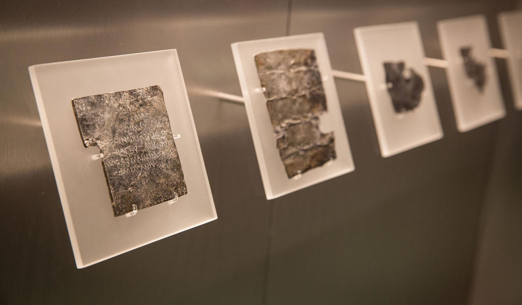 Image: Display of Roman curse tablets