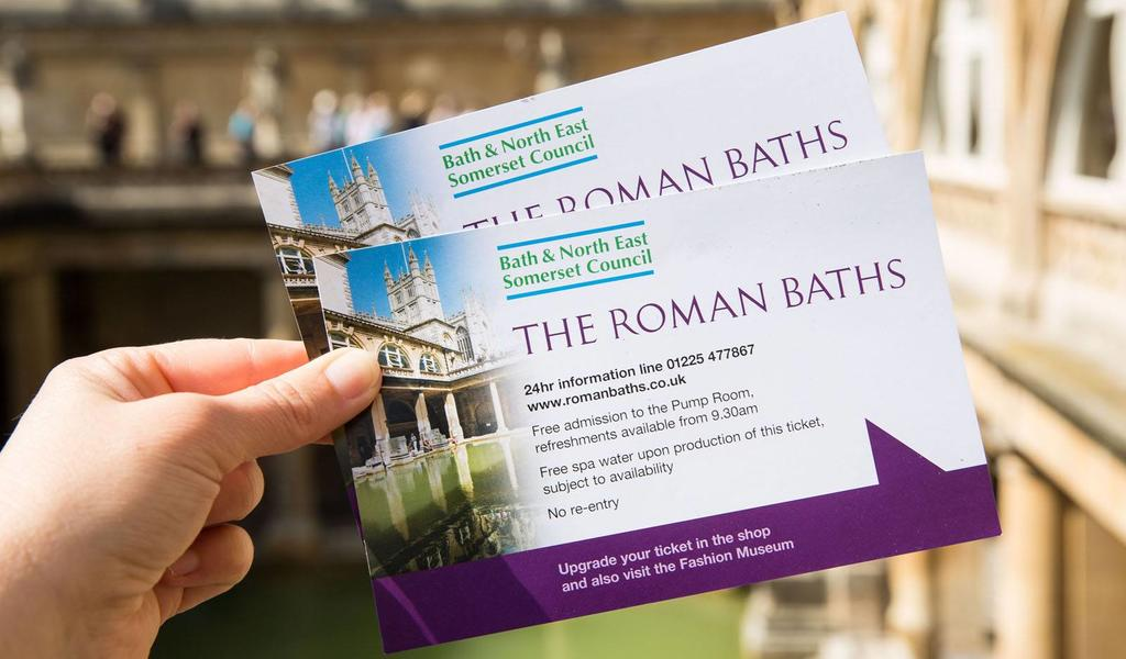 Image: Roman Baths tickets
