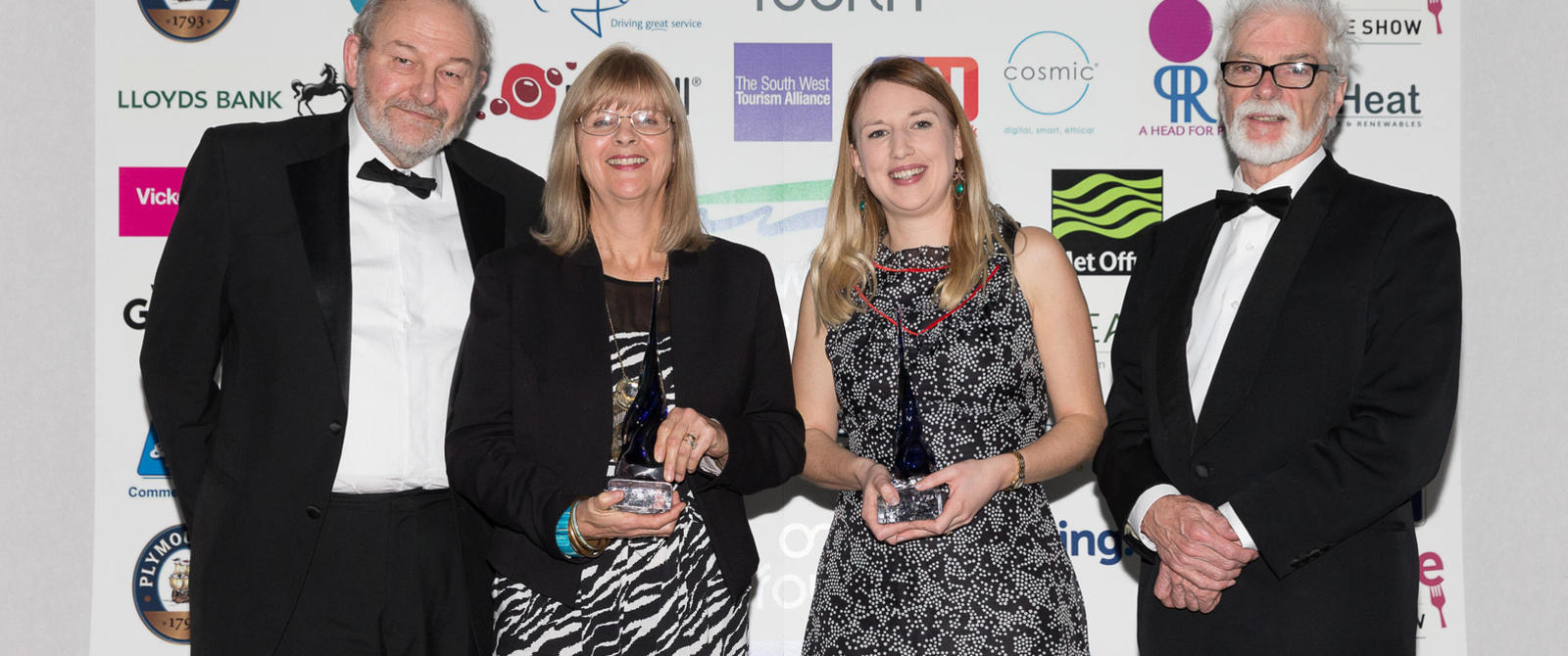 Image: Roman Baths staff at the 2017 South West Tourism Awards