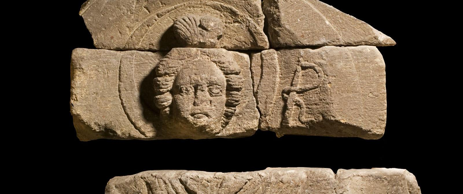 Image: Stone carving of the goddess Luna