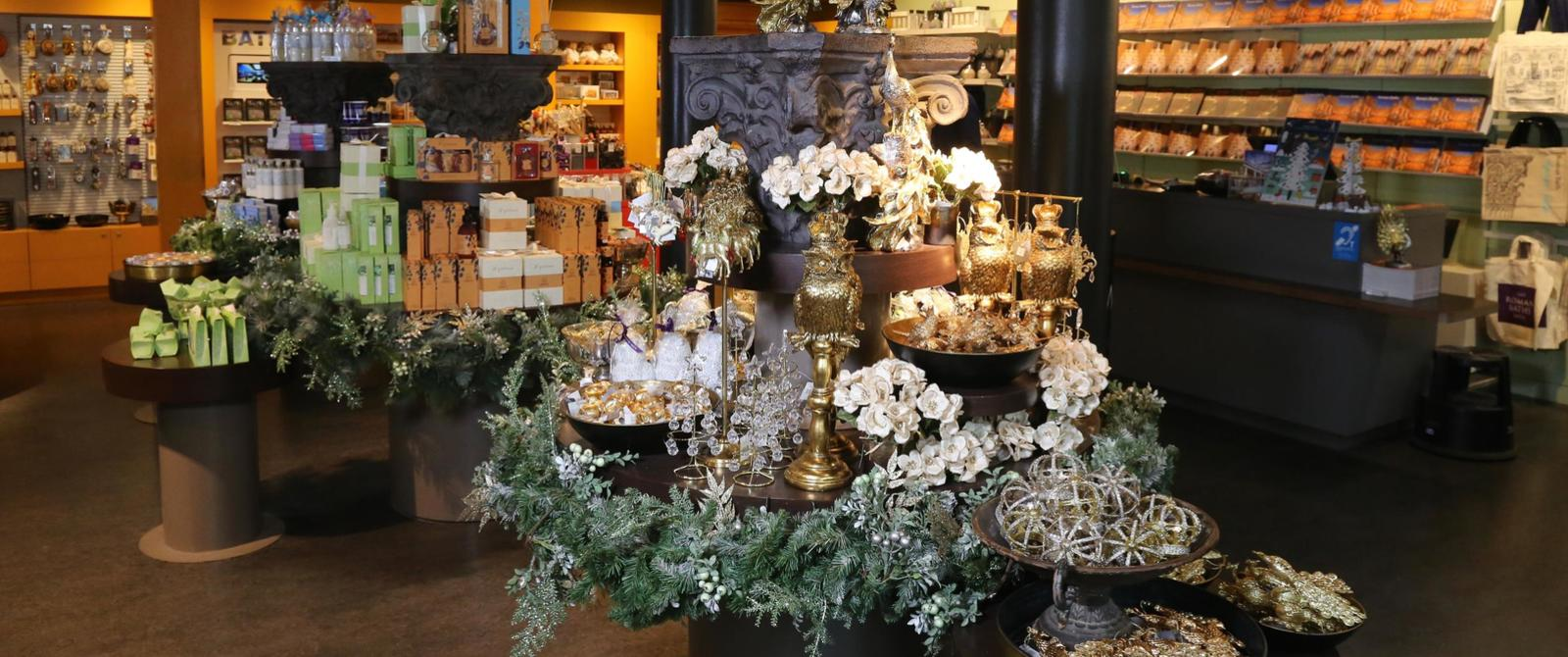 Image: Christmas products in the Roman Baths shop
