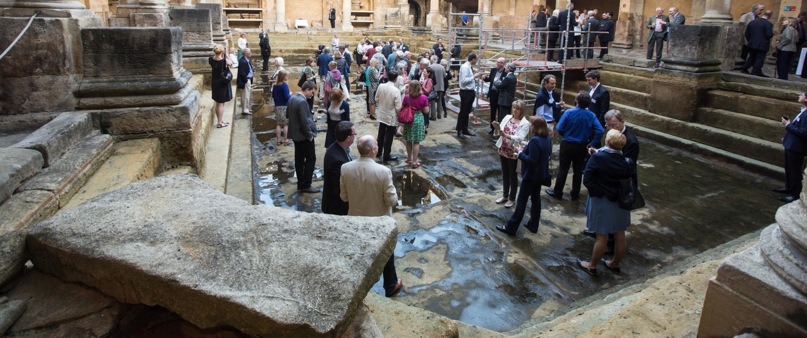 Image: A Roman Baths Foundation event at the Roman Baths