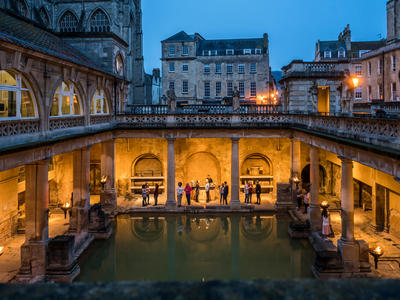 Image: The Great Bath by torchlight
