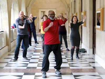Image: Tai Chi class on the Roman Baths Terrace