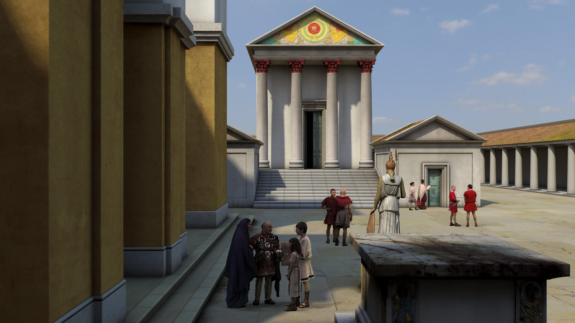 Image: Animation of the Roman Temple