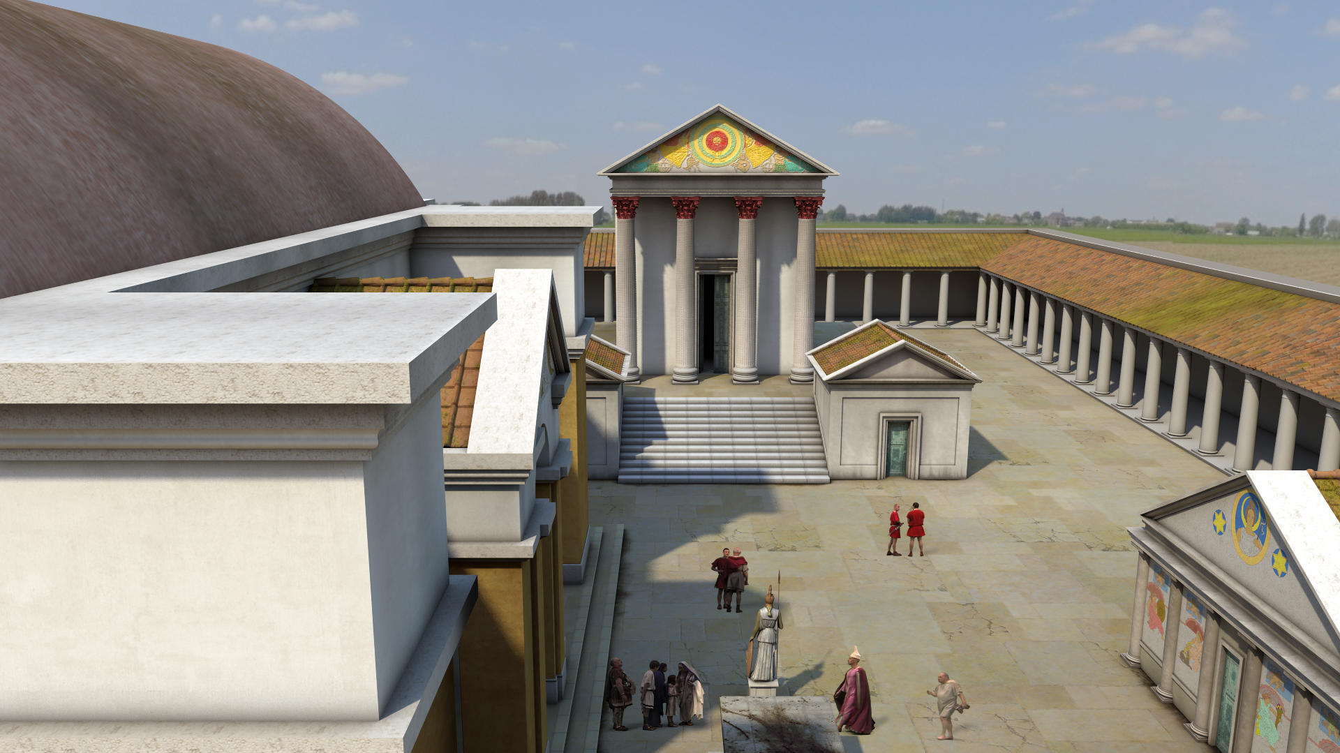 Image: Animation of Temple Courtyard