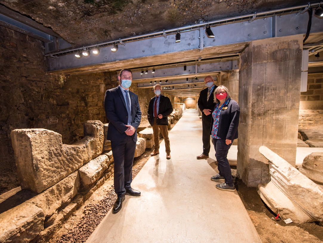 Image: Council Leader Kevin Guy on a tour of the spaces