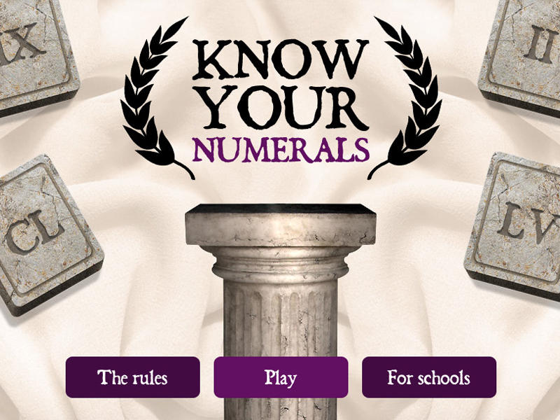 Know your numerals