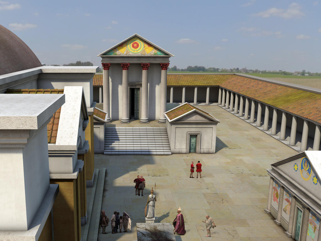 Image: Animation of the Temple Courtyard