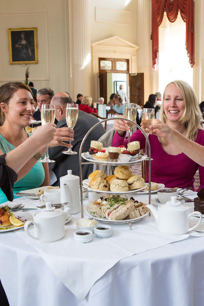 Image: Champagne tea in the Pump Room