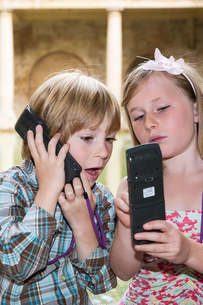 Image: Children with audioguides