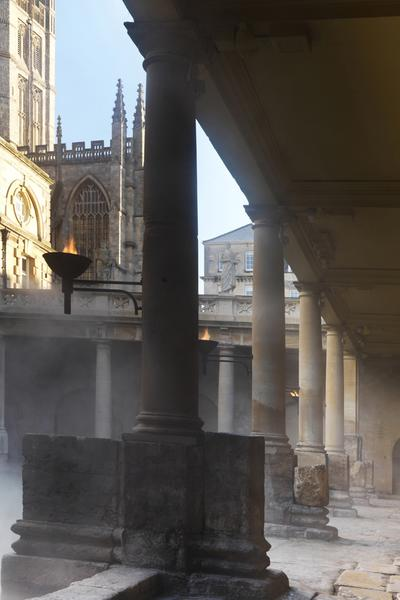 Image: Roman pavements beside the Great Bath