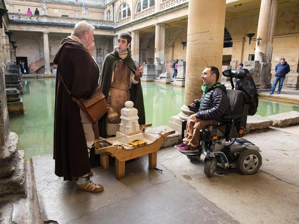 Image: Wheelchair access at the Great Bath