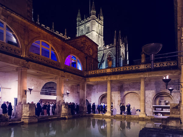 Image: A drinks reception around the Great Bath, Kate Hopewell-Smith