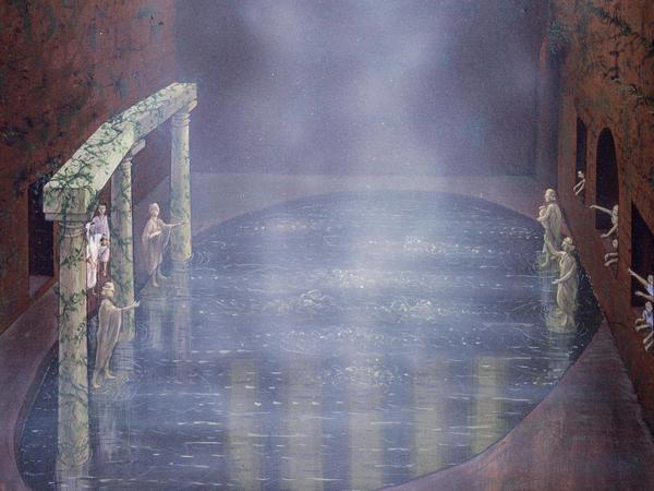 Image: Artist's impression of the Roman Sacred Spring