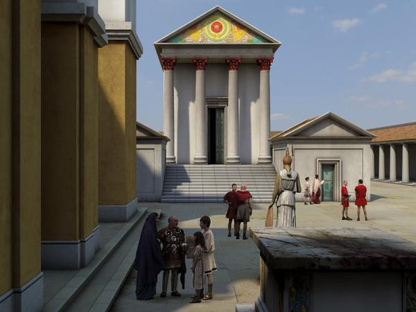 Image: Computer reconstruction of the Roman Temple