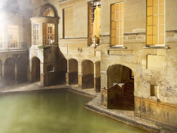 Image: The sacred spring at the Roman Baths