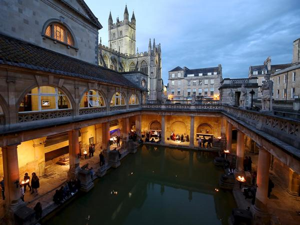 Image: The Roman Baths by torchlight