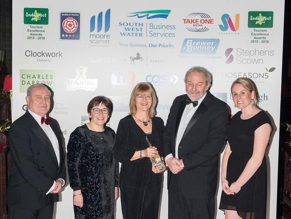 Image: Roman Baths staff at the 2016 South West Tourism Excellence Awards