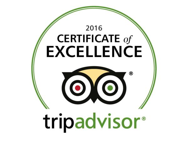 Image: TripAdvisor Certificate of Excellence logo
