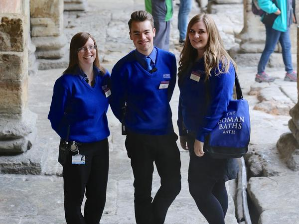Image: Visitor Services Assistants by the Great Bath